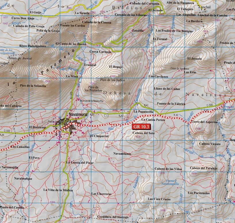 Ruta gr 10 3 zona para campamentos la chaparrera - Navalmoral de la sierra ...